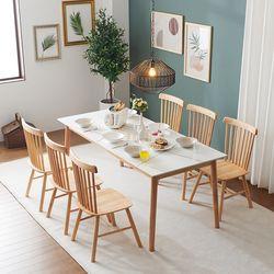 몬스 통세라믹 원목 6인 식탁 세트의자형(의자6) KEF046