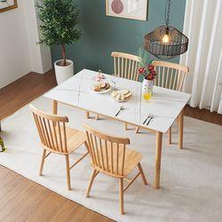 몬스 통세라믹 원목 4인 식탁 세트의자형(의자4) KEF044