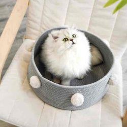 방울 고양이 바구니