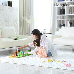 리빙코디 PVC 소프트 놀이방매트 200x140x1.2cm