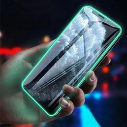 아이폰se2 11pro max xr xs 8+/야광라인 강화유리 액