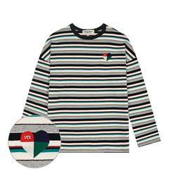 Heart Stripe Long Sleeve (black)