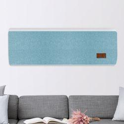 린넨필 벽걸이형 에어컨 커버 블루 LG휘센용