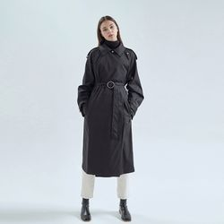 20FW frank trench coat - black
