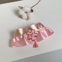 한복목걸이  핑크