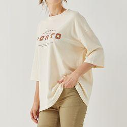 감성 레터 7부 티셔츠 DALA209D1