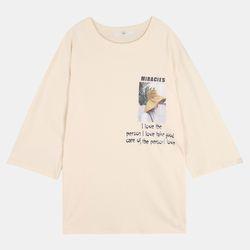 레터링 7부 티셔츠 ALRA20947