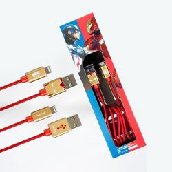 마블 어벤져스 아이언맨 라이트닝 8핀 아이폰 고속충전 케이블