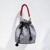 Black Flower Bubble Bag