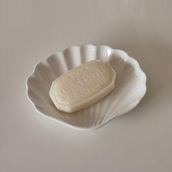 유니크 쉘트레이 조개 접시 도자기 캔들 받침