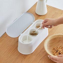 봉봉 주방 양념통 세트 3p 스푼 포함