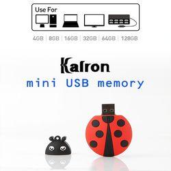 캐릭터 USB 메모리 64GB(무당벌레충전기돼지코)