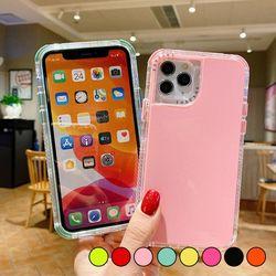 아이폰11프로맥스 컬러풀 유광 심플 젤리 케이스 P008