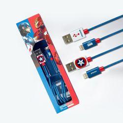 마블 캡틴아메리카 라이트닝 8핀 아이폰 고속충전 케이블