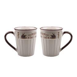 까페빈티지 머그컵 (대-그레이) 2P