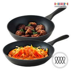 [한샘] 키친 베이직 인덕션 후라이팬 28+웍 24cm 2종 세트