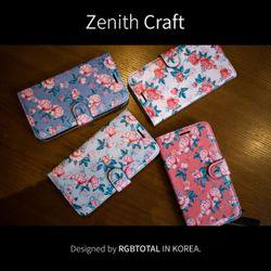 [Zenith Craft] 갤럭시노트 시리즈 플라워로즈 다이어리