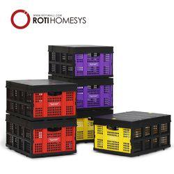 로티홈시스 폴딩 수납 리빙 박스+덮개 세트 60L