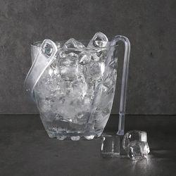웨이브 유리 아이스버킷 얼음통