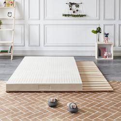 제이픽스 편백나무 원목 4단 접이식 매트리스 침대 싱글 깔판