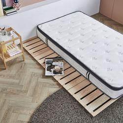 제이픽스 편백나무 원목 4단 접이식 매트리스 침대 킹 깔판