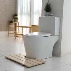 제이픽스 편백나무 원목 욕실 발판 - 욕실형  JRB69