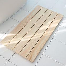 제이픽스 편백나무 원목 특대형 욕실 발판  JRB71