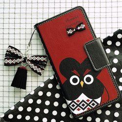 갤럭시노트10 (N971)   HippieChouette-Black 지갑 다이어리