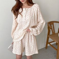 Soft Cherry Pajama Set - 반바지