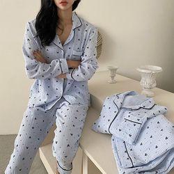 Heart Pajama Set - 커플룩