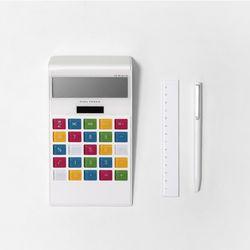 학교 사무실 은행 태양열 배터리 LCD 계산기 Rainbow