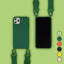 아이폰SE2 캔디 컬러 스트랩 커버 젤리 케이스 P035