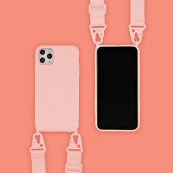아이폰11프로맥스 캔디 컬러 스트랩 젤리 케이스 P035