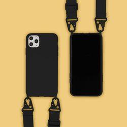 아이폰XS맥스 캔디 컬러 스트랩 젤리 케이스 P035