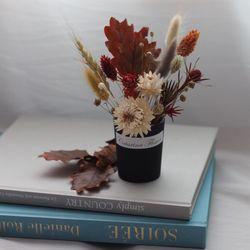 프리저브드 가을오크잎미니꽃화분