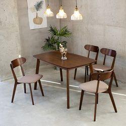 제이픽스 니코 4인 원목 1300 식탁 의자 4p 세트  SHC1815