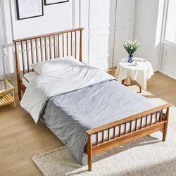 제이픽스 노르딕 러버트리 원목 침대 프레임 - 슈퍼싱글  JRB76