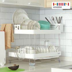 [한샘] 와이드 주방 올스텐 식기건조대 2단