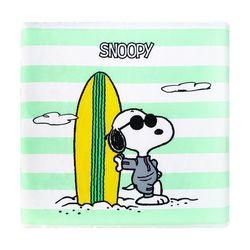 스누피 서핑 메모리폼 방석 민트 40x40