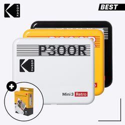 코닥 휴대용 포토프린터 미니 3 레트로 P300R + 카트리지 30매