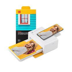 코닥 가정용 포토프린터 도크 2  PD460 옐로우 + 카트리지 80매