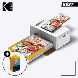 코닥 가정용 포토프린터 도크 2  PD460 옐로우 + 카트리지 160매