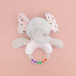 (가베가족베이비) KS2633-2 코끼리 딸랑이 핑크