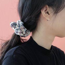 실버 큐빅 원터치 귀걸이