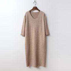 Seven V-Neck Long Dress