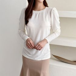 Wool Cotton Puff Tee