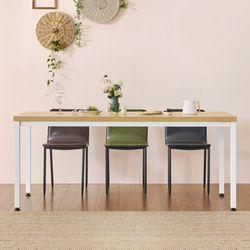 홈 카페 6인용 식탁테이블 800x1800 일자다리