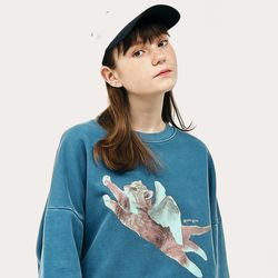 [20F/W] PIGMENT CATPID SWEATSHIRT BLUE