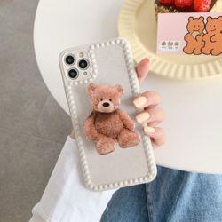 아이폰 11 SE2 XR XS 8 곰돌이 그립톡 실리콘 케이스