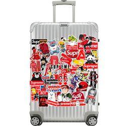 감성 레트로 노트북 여행가방 데코스티커 - 스트릿패션A+B-115매